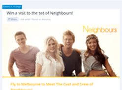 Win a trip for 2 to Melbourne to meet the cast & crew of Melbourne!