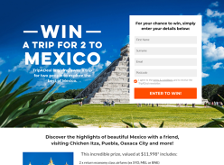 Win a Trip for 2 to Mexico