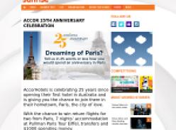 Win a trip for 2 to Paris + $1,000 spending money!
