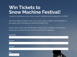 Win a trip for 2 to Snow Machine Festival in Japan!