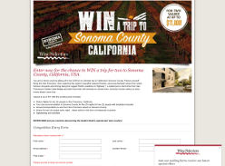 Win a trip for 2 to Sonoma County, California!