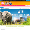 Win a trip for 2 to South Africa!