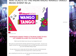Win a trip for 2 to the 2019 Wango Tango Event in LA!