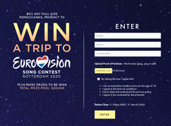 Win a trip for 2 to the Grand Final of Eurovision Song Contest 2020!