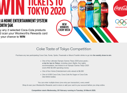 Win a trip for 2 to the Olympic Games Tokyo 2020!