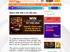 Win a trip for 2 to the USA!