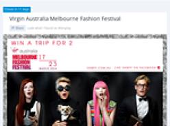 Win a trip for 2 to the 'Virgin Australia' Melbourne Fashion Festival!