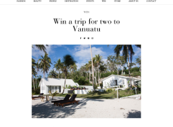Win a trip for 2 to Vanuatu, valued at $4,700!