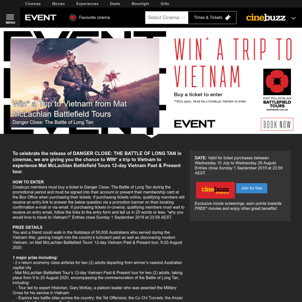 Win a Trip for 2 to Vietnam
