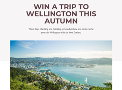 Win a trip for 2 to Wellington with Air New Zealand!