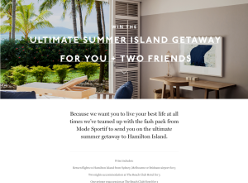 Win a trip for 3 people to Hamilton Island