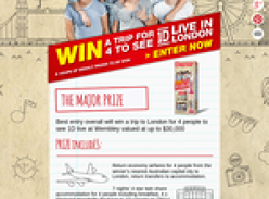Win a trip for 4 to London to see 'One Direction' live!