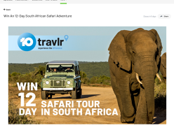 Win a trip for 4 to South Africa!