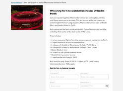 Win a trip for 4 to watch Manchester United in Perth