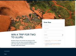 Win a trip for two to Uluru