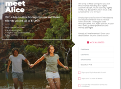 Win a trip to Alice Springs for 4!