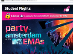 Win a trip to Amsterdam to party down at the MTV EMAs! (Open to 18-39 year old entrants ONLY)