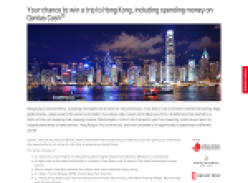 Win a trip to Hong Kong including spending money on Qantas Cash!