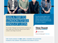 Win a trip to London to see Kings of Leon!