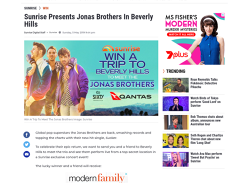 Win a trip to meet the Jonas Brothers in Beverly Hills!
