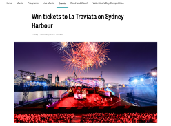 Win a Trip to See 'La Traviata' on Sydney Harbour