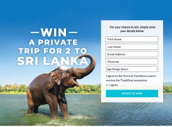 Win a Trip to Sri Lanka for 2