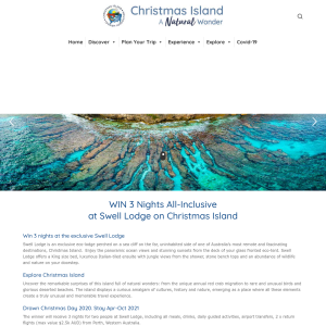 Win a Trip to Swell Lodge on Christmas Island for 2
