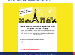 Win a trip to the final stage of Tour de France!