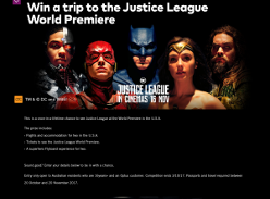 Win a Trip to the Justice League World Premiere in LA/New York for 2