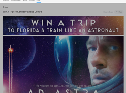 Win a Trip to the Kennedy Space Centre in Florida for 2