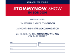 Win a Trip to the TOMMYNOW Fashion Show in London for 2