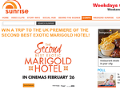 Win a trip to the UK premiere of 'The Second Best Exotic Marigold Hotel'!