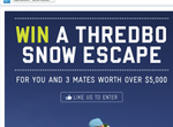 Win a trip to Thredbo for you & 3 mates!