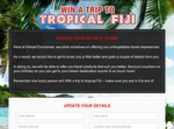 Win a trip to tropical Fiji!