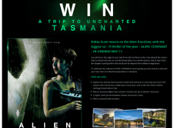 Win a trip to uncharted Tasmania!