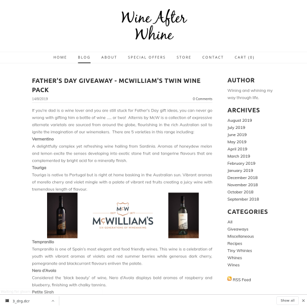 Win a Twin Pack of McWilliam's Wine