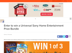 Win a Universal Sony Home Entertainment Prize Bundle