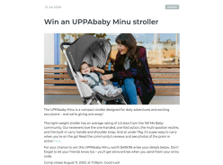 Win a UPPAbaby Minu stroller!