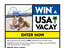 Win a USA Vacation from Student Flights (Aged 18-35)