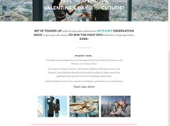 Win a 'Valentine's Day in The Clouds' Experience