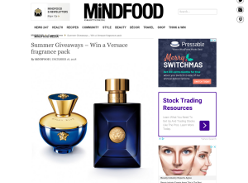 Win a Versace fragrance pack