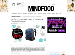 Win a Victorinox Touring Backpack