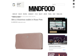 Win a Victorinox wallet in Rose Pink!