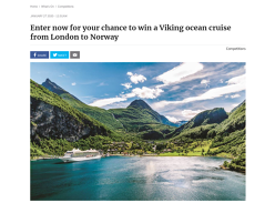 Win a Viking ocean cruise from London to Norway worth $25K!