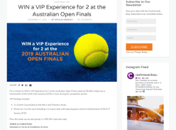 Win a VIP Experience for 2 at the Australian Open Finals