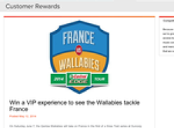 Win a VIP experience to see the Wallabies tackle France