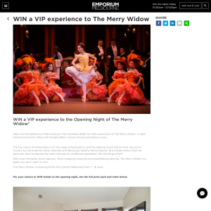 Win a VIP experience to The Merry Widow