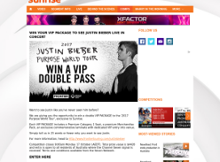 Win a VIP pacakge to see Justin Bieber LIVE in concert!