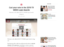 Win a VIP trip for 2 to the 2019 TV WEEK Logie Awards!