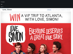Win a VIP trip to Atlanta with Love, Simon